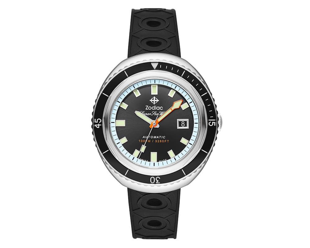 Stainless Steel Black Sunray Index Dial Super Sea Wolf 68