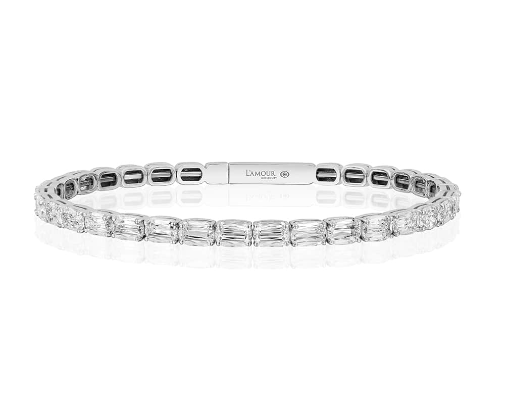 18KT White Gold Christopher Design La' Amour Cut Diamond Bracelet