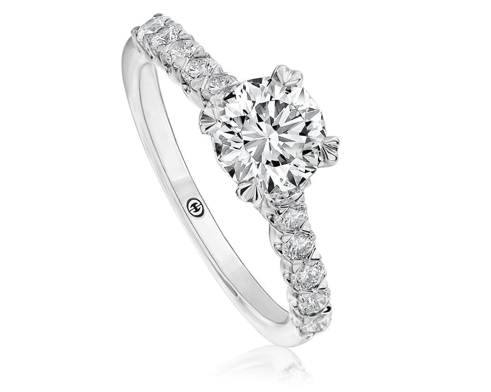 White 18 Kt Diamond Semi-Mounting
