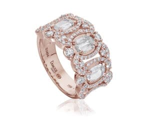 14kt Rose Gold Diamond Fashion Ring L'Amour Crisscut