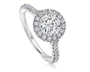 White 18 Kt Halo Diamond Semi-Mounting