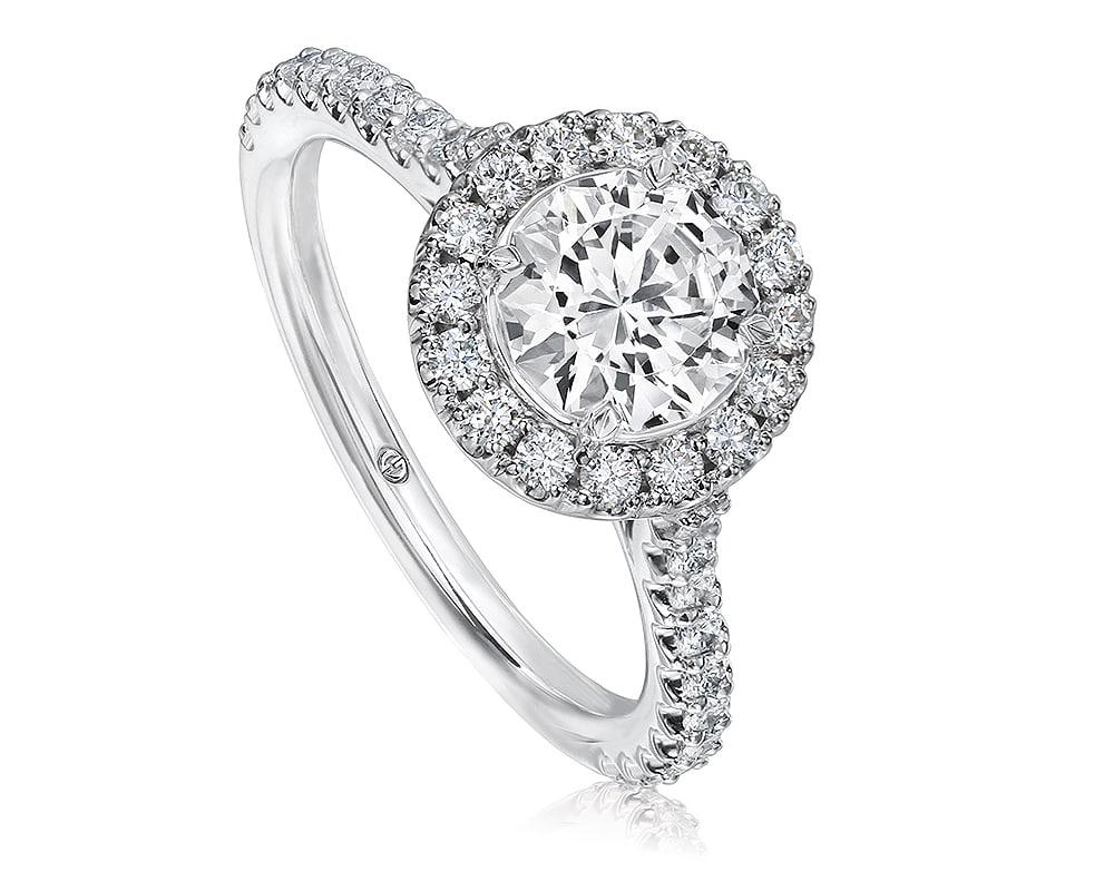 White 18 Kt Halo Diamond Semi-Mounting