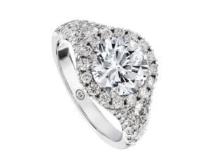 18 Kt Halo Diamond Semi-Mounting