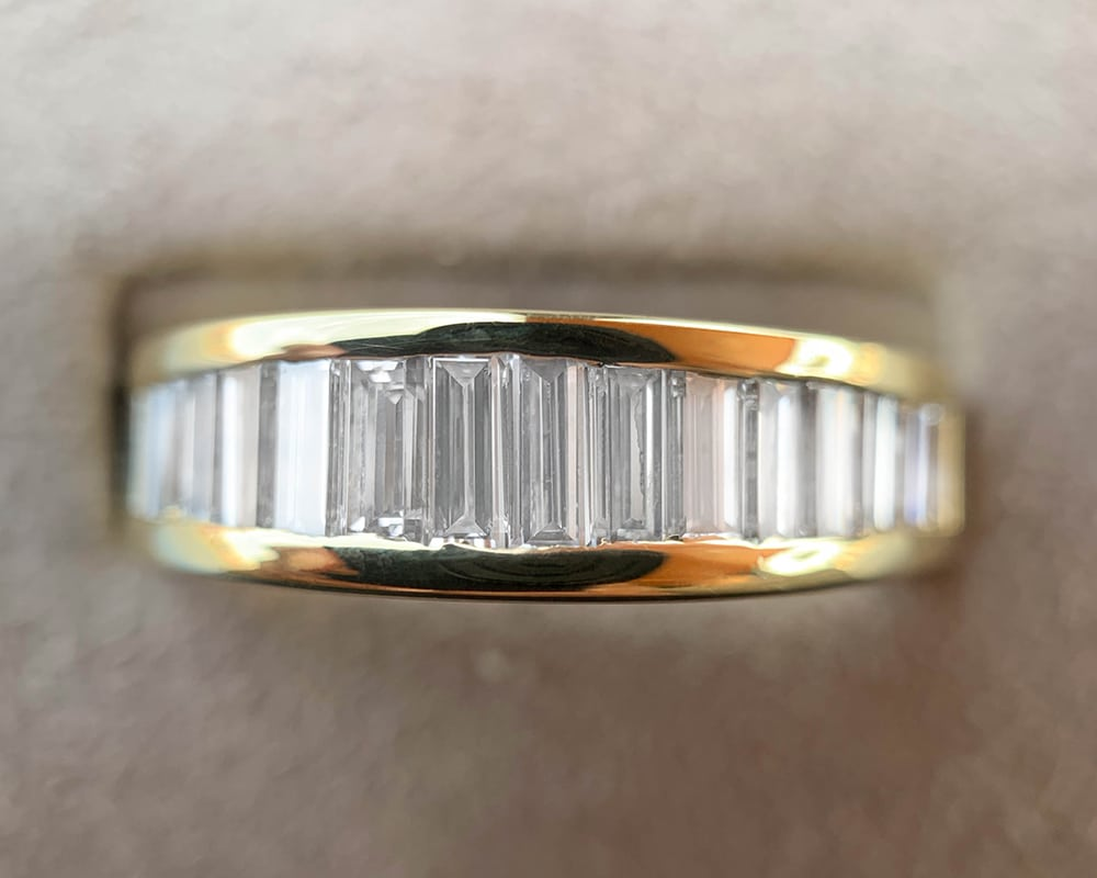 Yellow Gold Diamond Channel Set Band