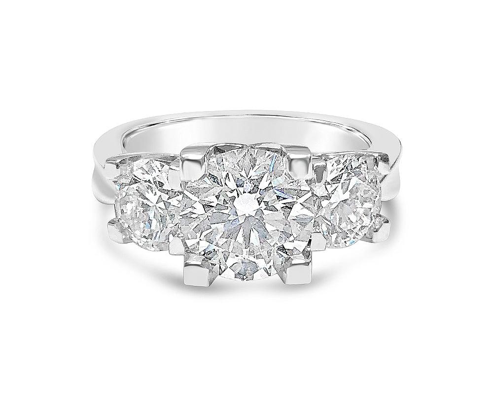 14KT White Gold 3-Stone Forevermark Engagement Ring