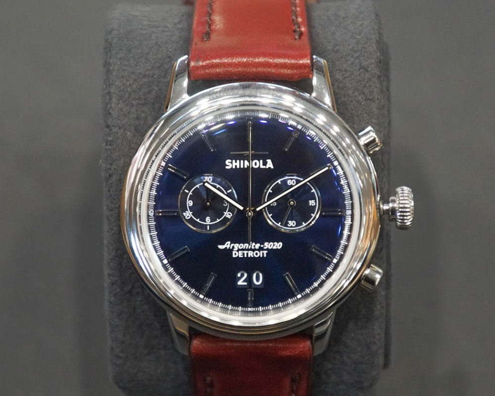 Shinola Watch with Leather Band