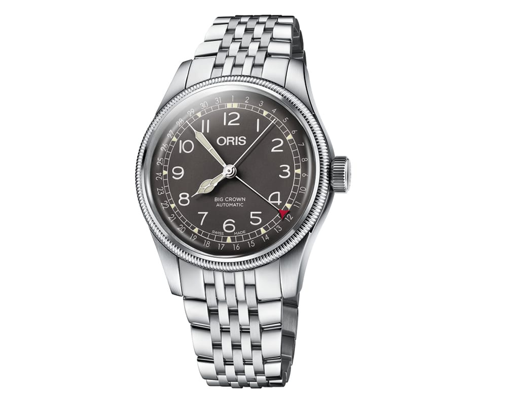 Stainless Steel Gray Arabic Dial Oris Big Crown Pointer Date