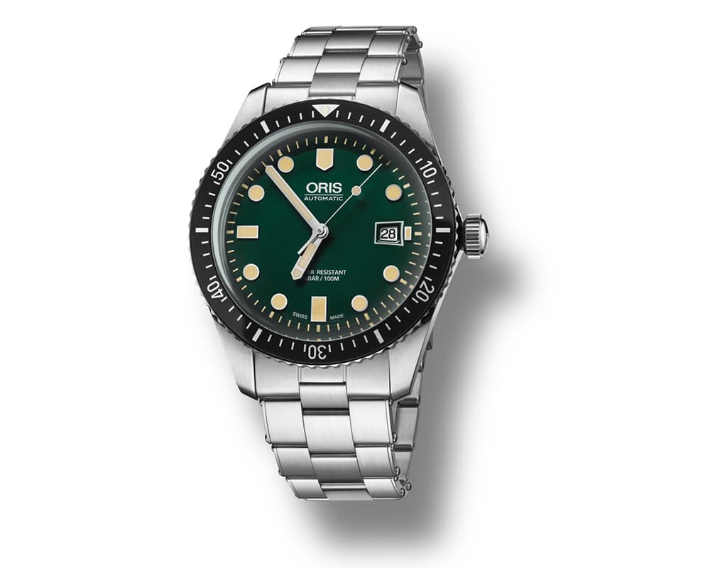 Stainless Steel Green Index Dial Diver 65