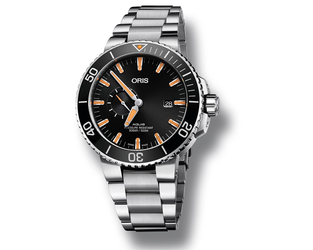 ORIS AQUIS SMALL SECOND DATE MEN`S WATCH 01 743 7733 4159-07 8 24 05PEB
