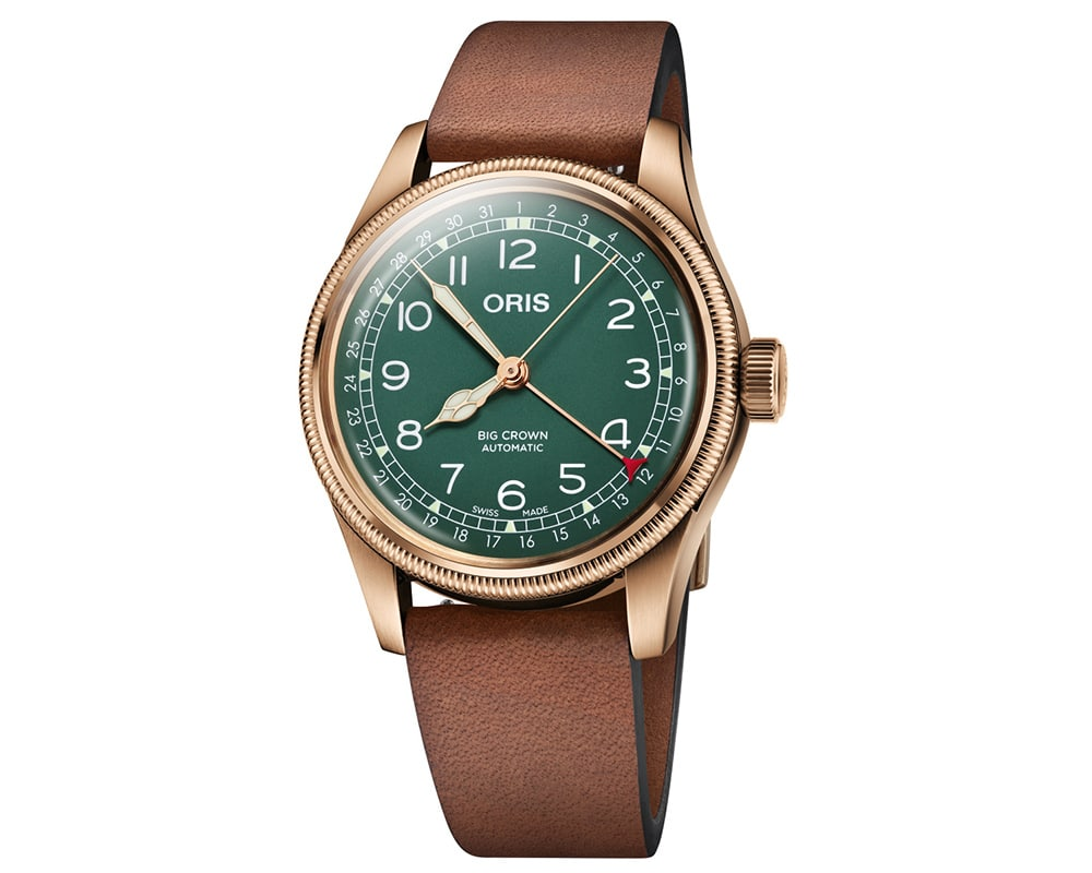 Bronze Green Arabic Dial Big Crown Pointer Date 80Th Anniversary Edition