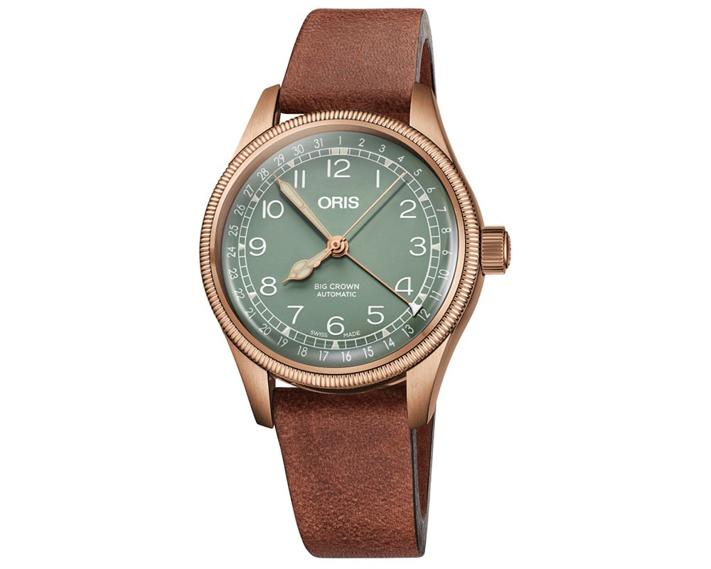 ORIS BIG CROWN BRONZE POINTER DATE MEN`s WATCH 01 754 7749 3167-07 5 17 69GBR