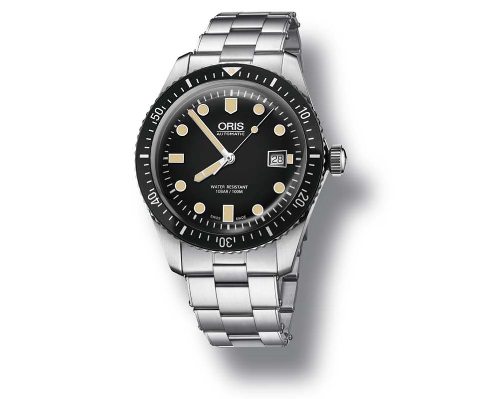 Stainless Steel Black Index Dial Diver 65