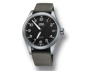 Stainless Steel Black Arabic Dial Big Crown Propilot Big Date