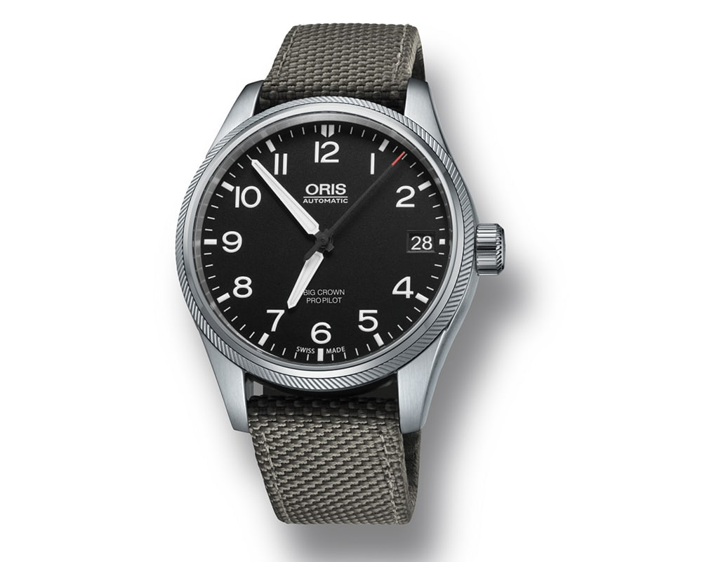 ORIS BIG CROWN PROPILOT MEN`S WATCH BIG DATE 01-751-7697-4164-07-5-20-17fc