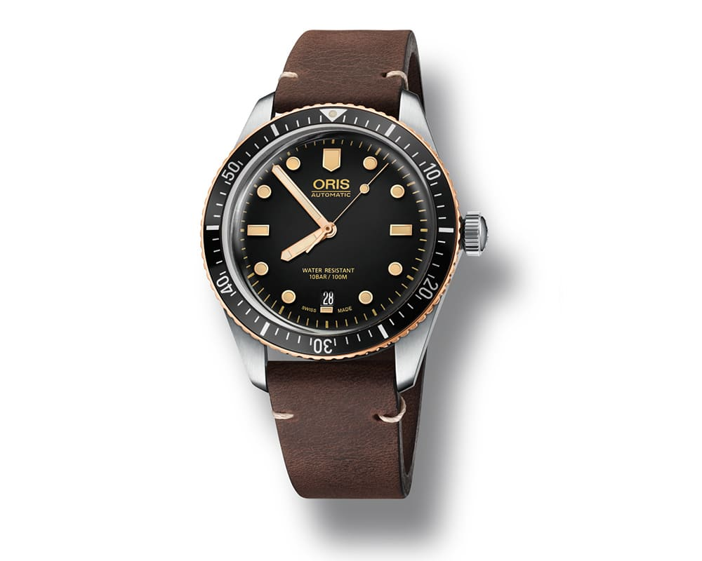 Stainless Steel/Bronze Black Index Dial Oris Diver 65