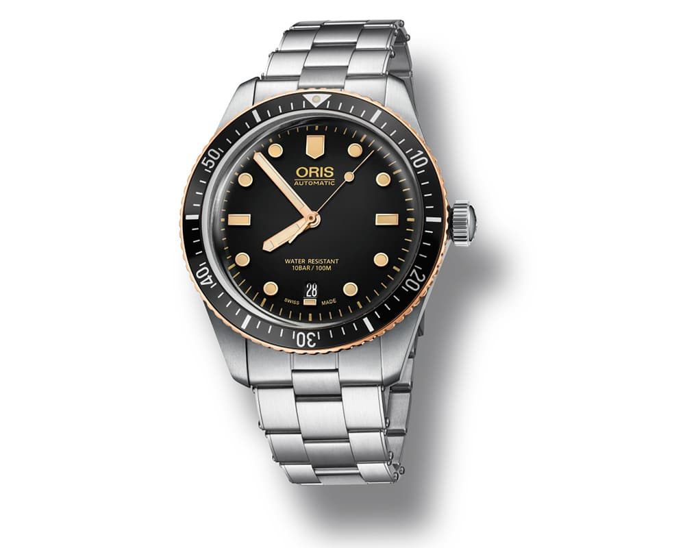 Stainless Steel/Bronze Black Index Dial Oris Diver 65 Oris Watch