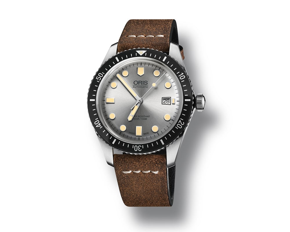 Stainless Steel Silver Index Dial Diver 65 Oris