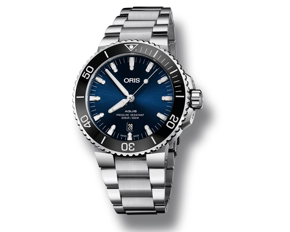 STAINLESS STEEL DARK BLUE Dial ORIS AQUIS MEN`S WATCH 01 733 7730 4135-07 8 24 05PEB