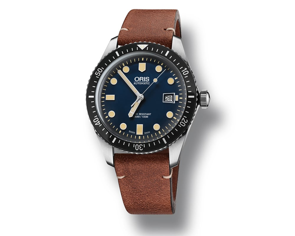 Stainless Steel Blue Index Dial Oris Diver 65