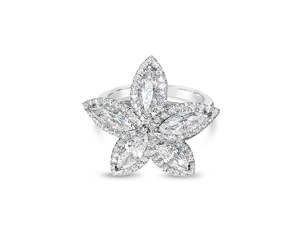 18kt Flower Fashion Ring