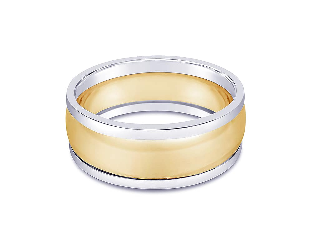 14kt Two-tone 9mm Wedding Band