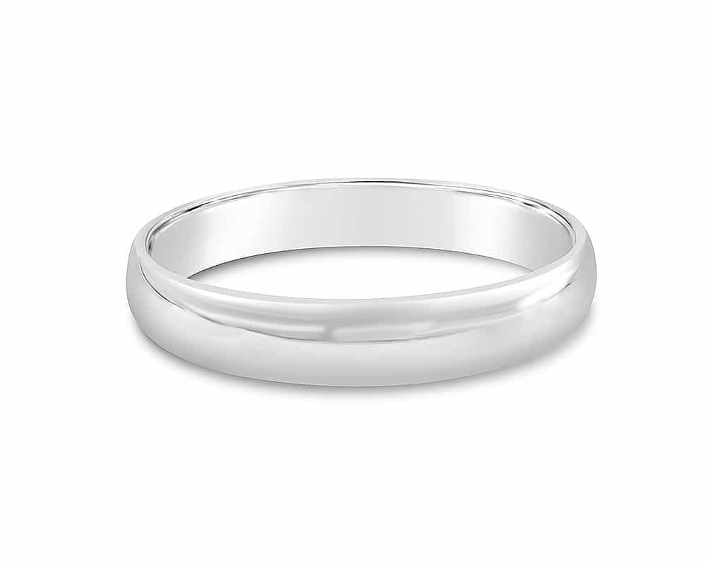 14kt White Gold 4mm Light CF Wedding Band