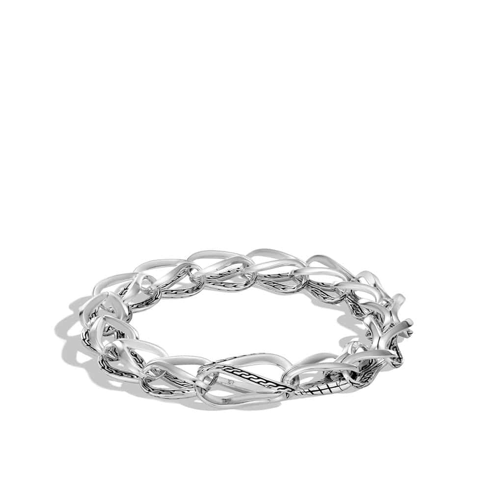 Asli Classic Chain Link 9.5MM Bracelet in Silver by John Hardy