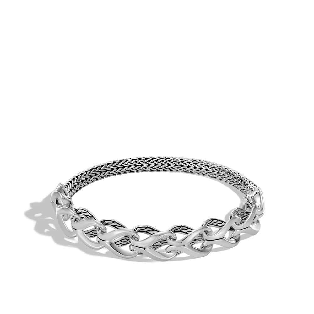 Asli Classic Chain Link Half Bracelet in Silver by John Hardy