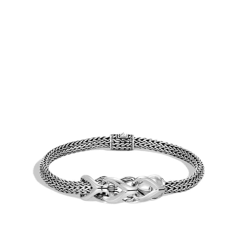 Asli Classic Chain Link 5MM Station Bracelet in Silver by John Hardy