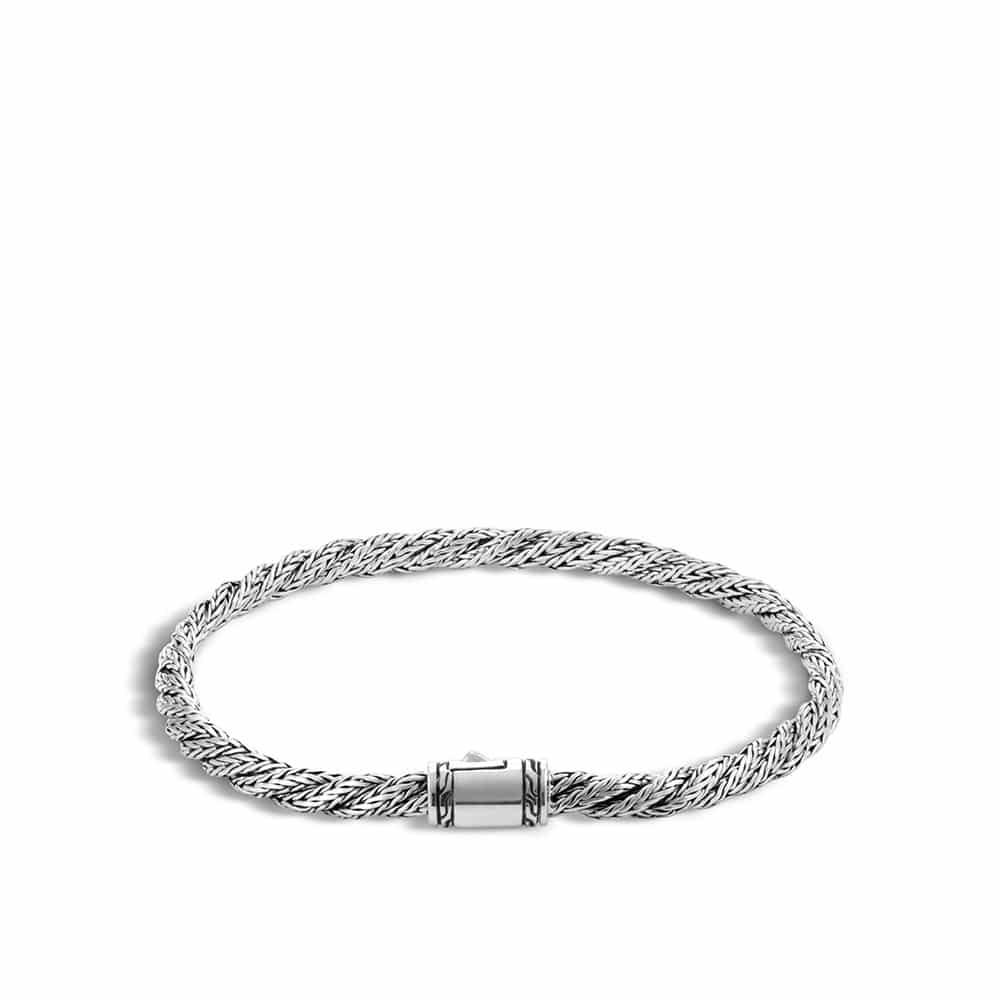 Twisted Chain 4MM Bracelet in Silver by John Hardy