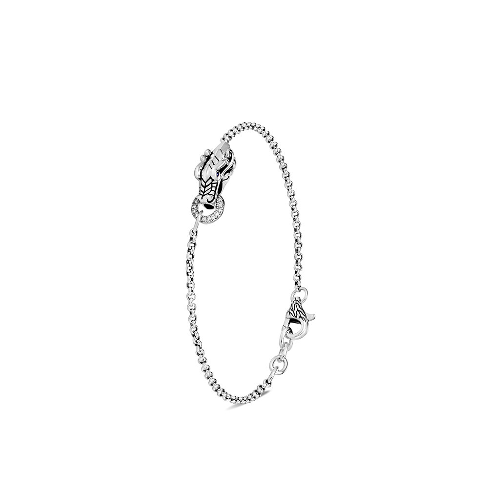 Legends Naga Charm Bracelet in Silver with Diamonds by John Hardy
