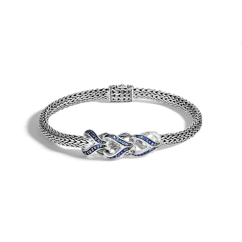 Asli Classic Chain Link 5MM Station Bracelet in Silver, Gem by John Hardy