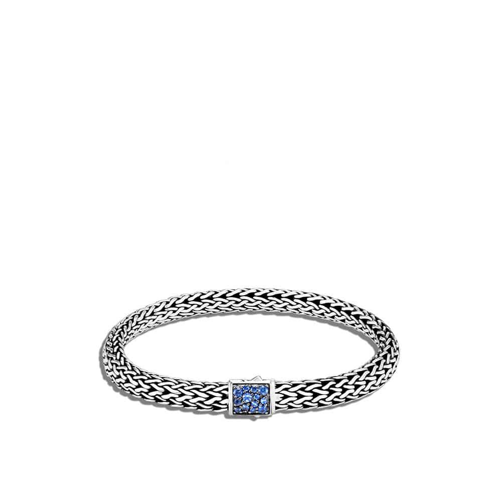 Reversible 6.5MM Bracelet in Silver with Gemstone by John Hardy