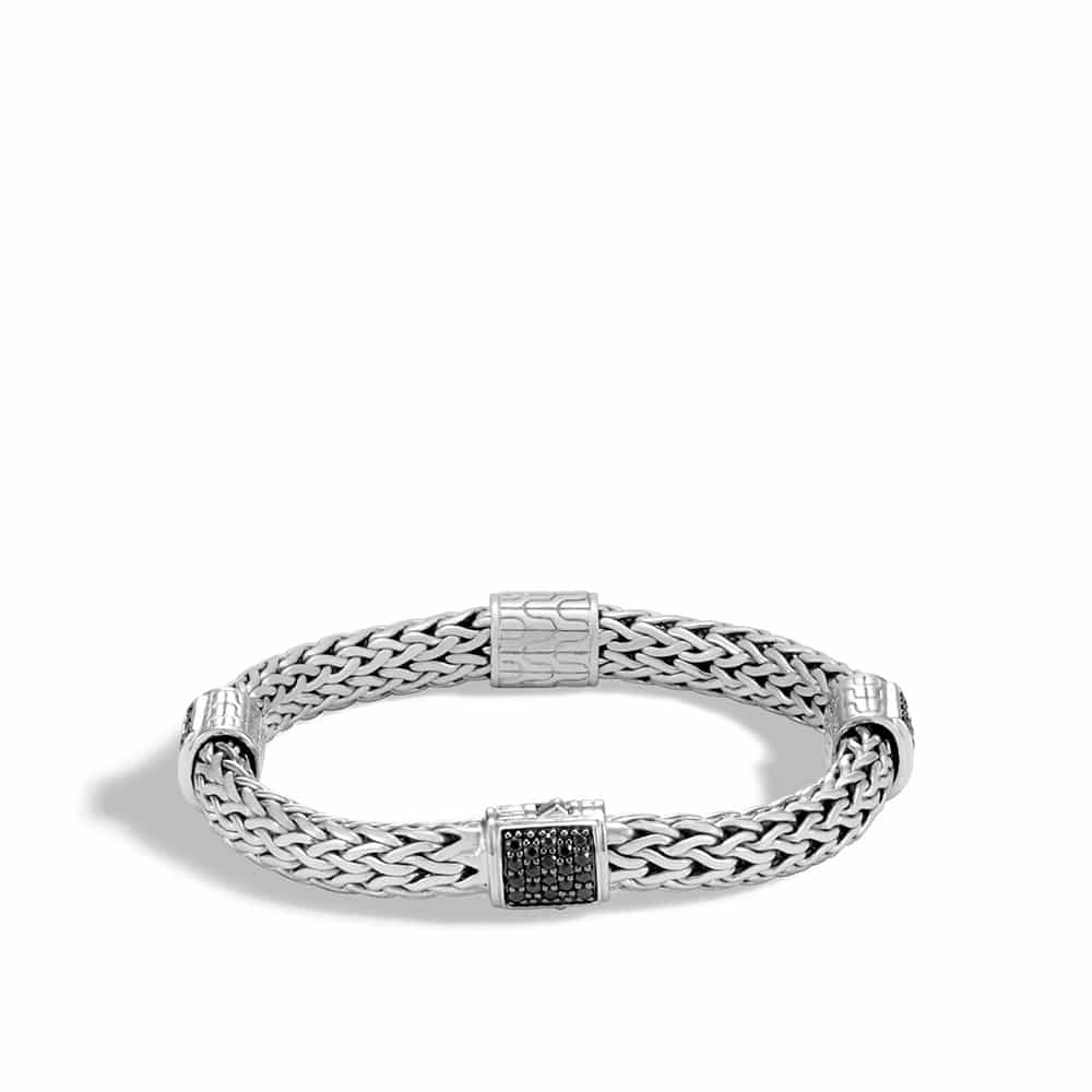 Classic Chain 7.5MM Bracelet in Silver with Gemstone By John Hardy