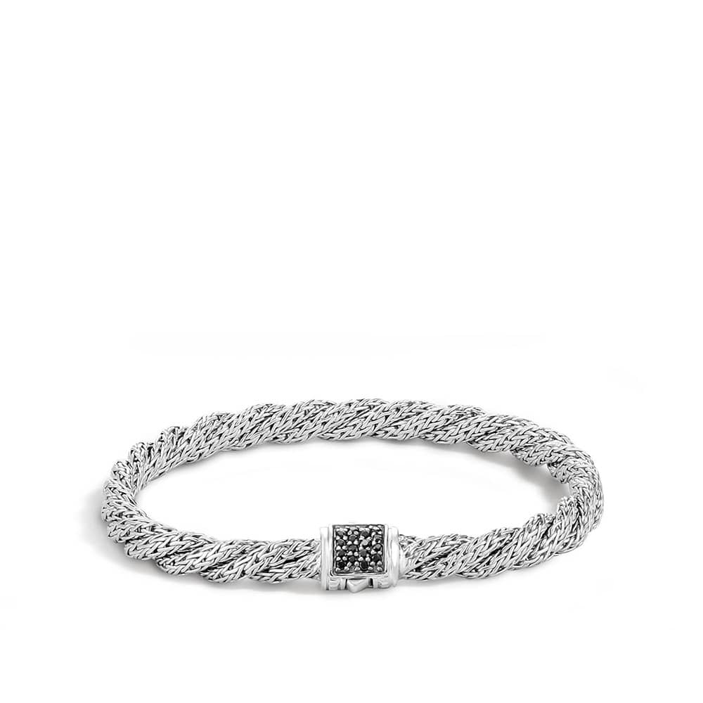 Twisted Chain 5.5MM Bracelet in Silver with Gemstone By John Hardy