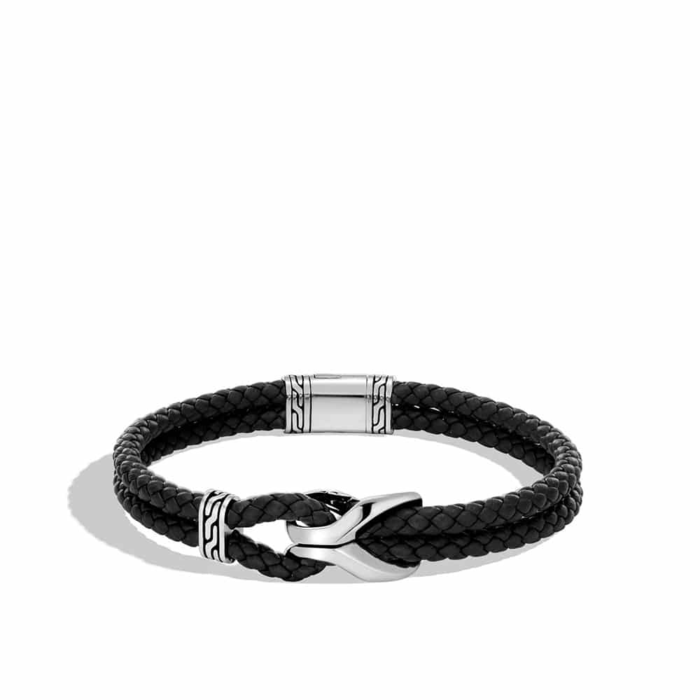 Asli Classic Chain Link Station Bracelet, Silver with Leather By John Hardy