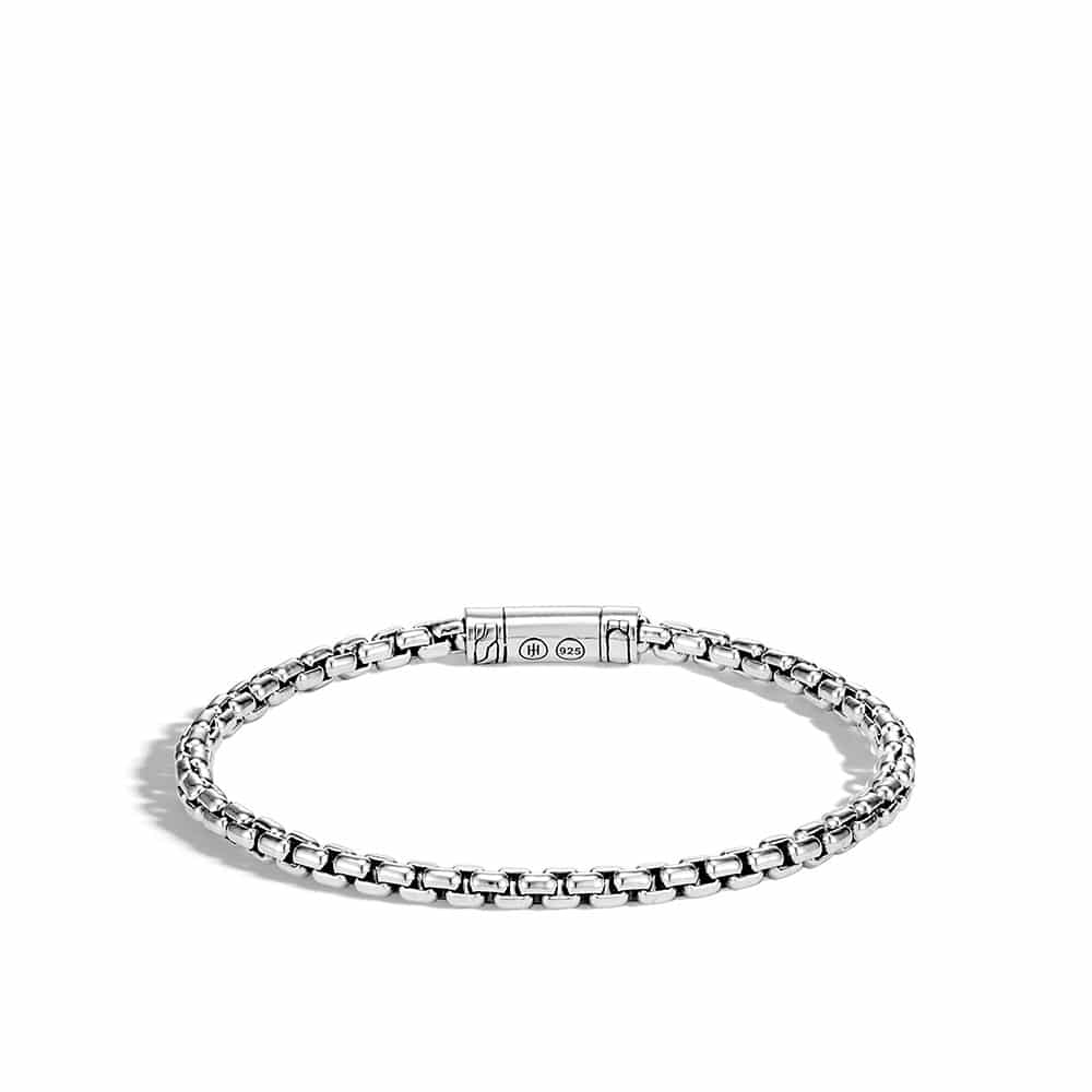 Classic Chain 4MM Box Chain Bracelet in Silver By John Hardy
