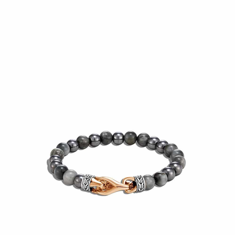 Asli Classic Chain Link Bead Bracelet in Silver, Bronze, Gem By John Hardy