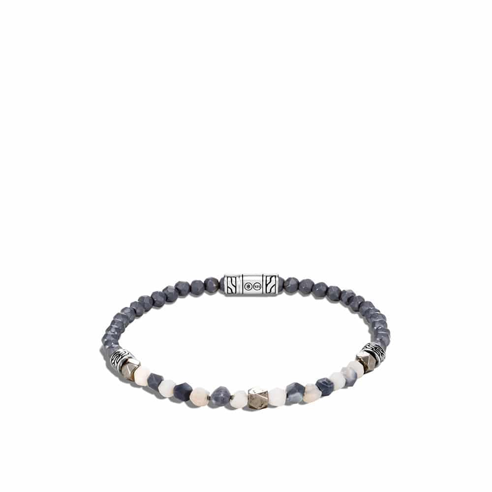 Classic Chain Bead Bracelet with Gemstone in Silver By John Hardy