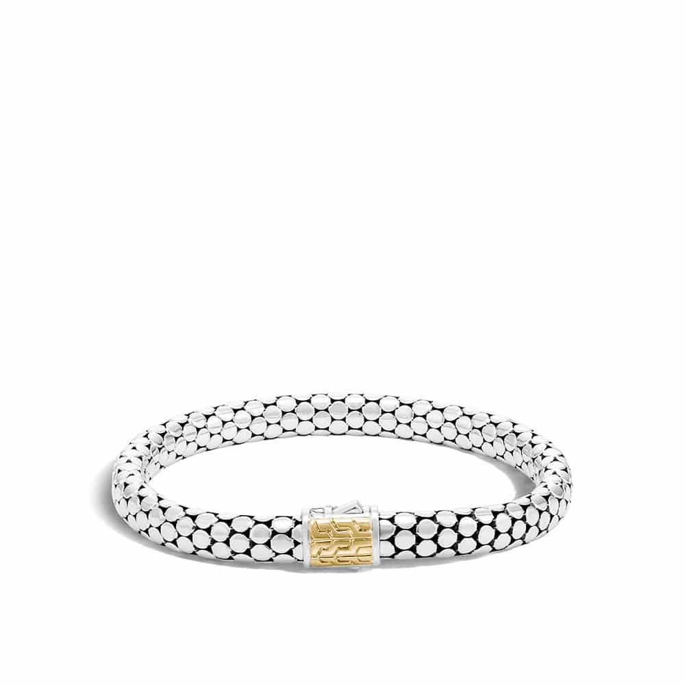 Dot 6.5MM Bracelet in 18K Gold and Silver By John Hardy