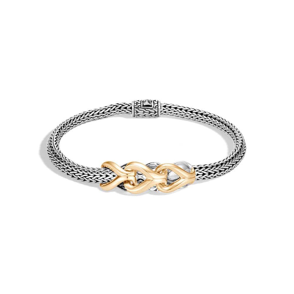 Asli Classic Chain Link Station Bracelet in Silver, 18K Gold By John Hardy