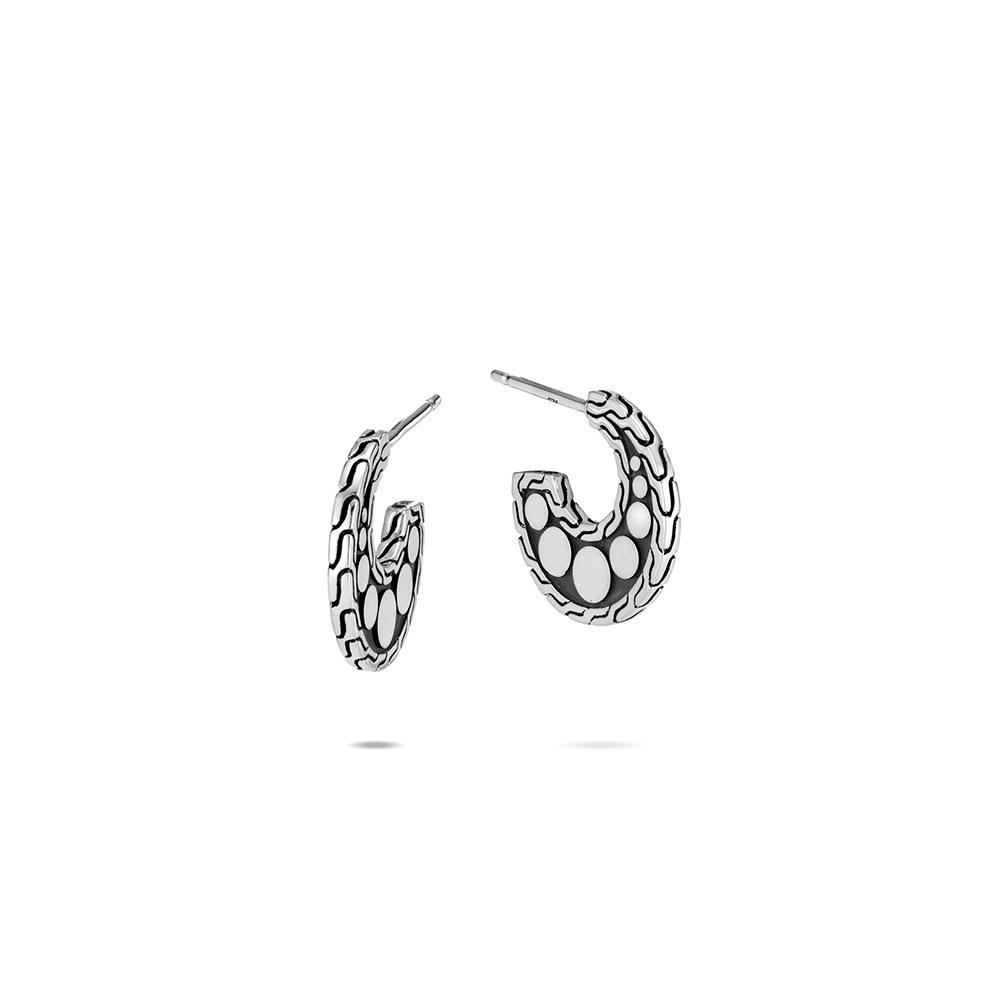 Dot Extra Small Hoop Earring in Silver By John Hardy