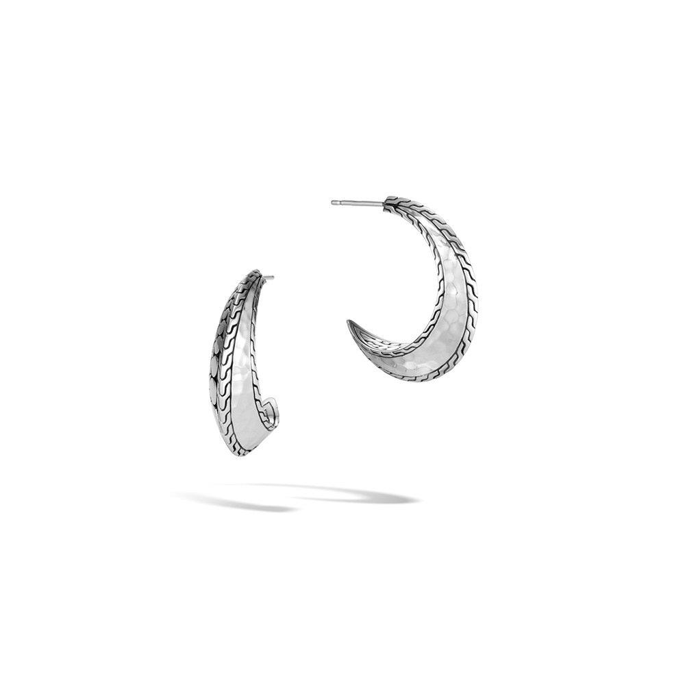 Dot Hoop Earring in Hammered Silver By John Hardy