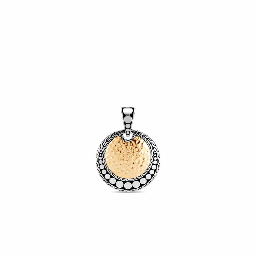 Dot Enhancer in Hammered 18K Gold and Silver By John Hardy