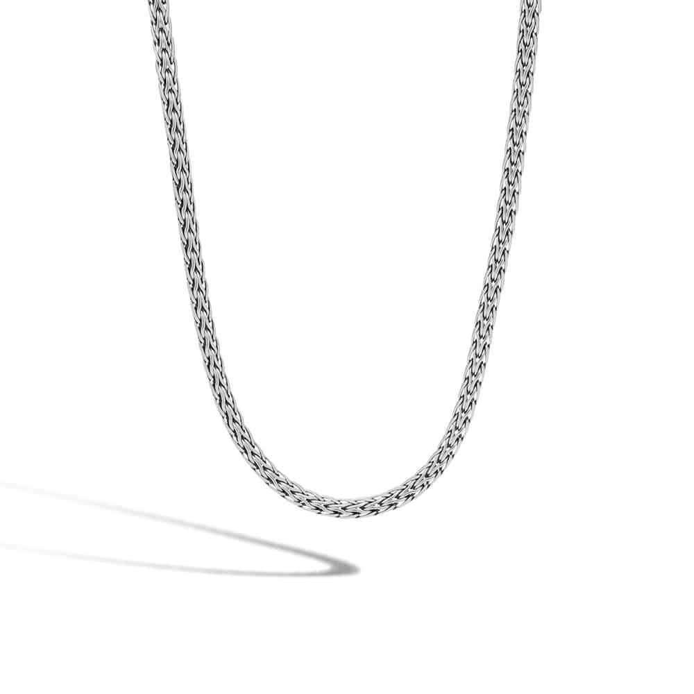 Classic Chain 3.5MM Woven Necklace in Silver By John Hardy