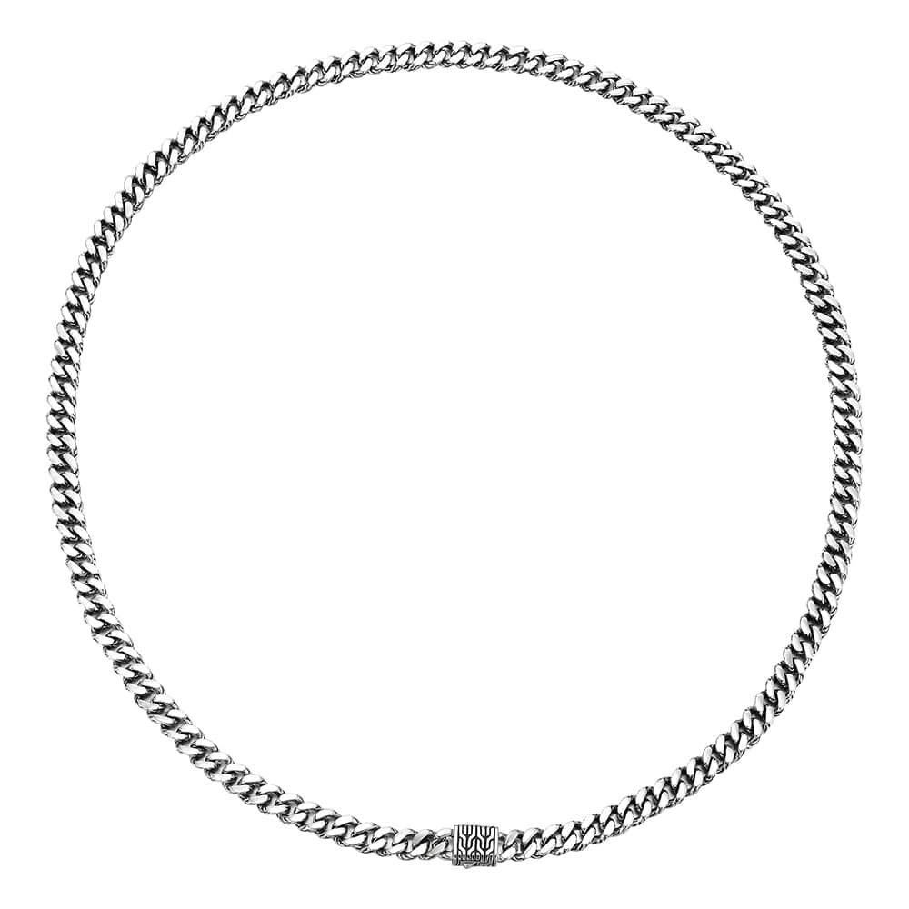 Classic Chain 7MM Curb Link Necklace in Silver By John Hardy