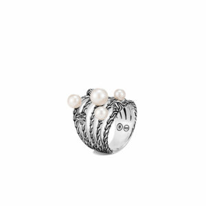 Classic Chain Ring in Silver with Pearl By John Hardy