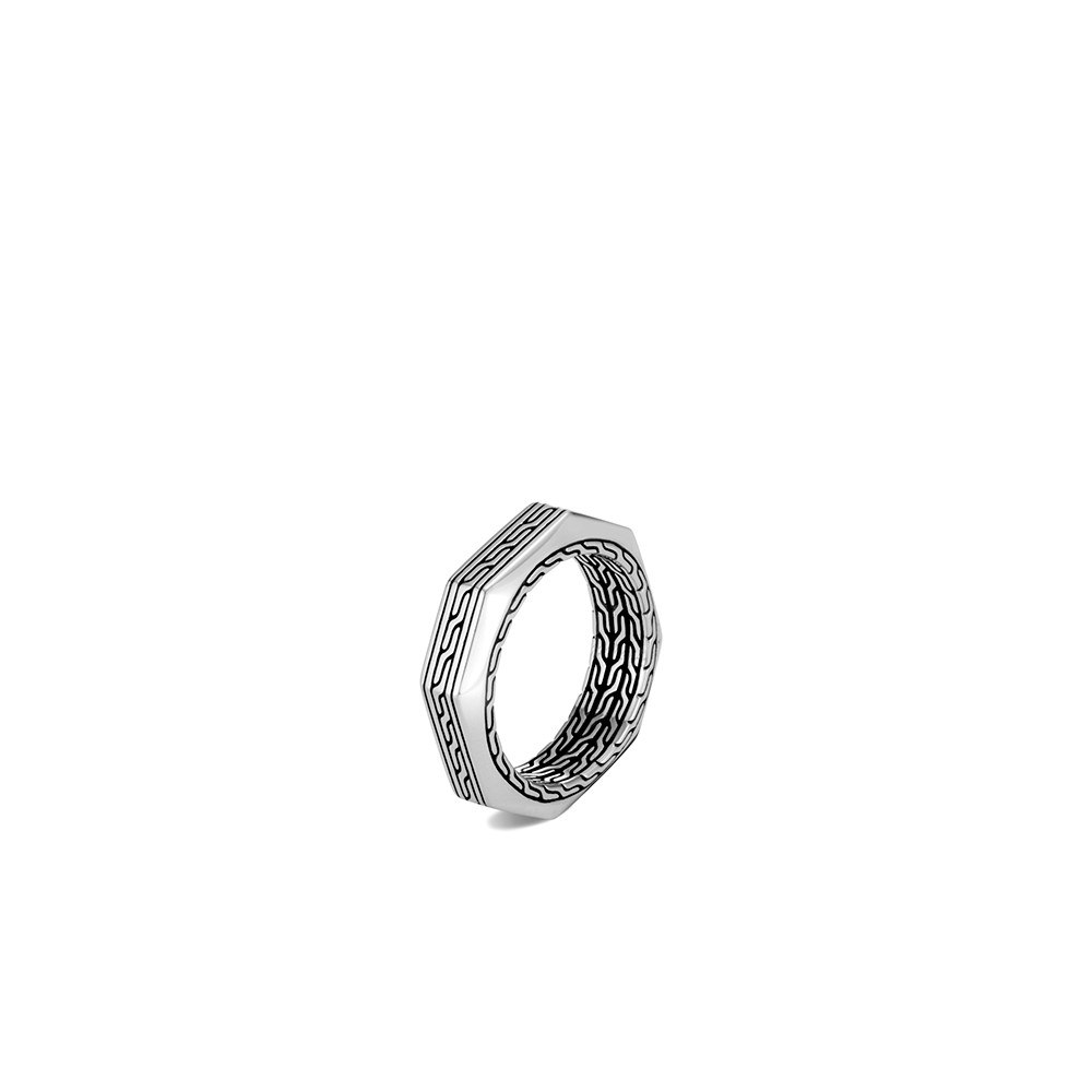 Classic Chain 6MM Band Ring in Silver By John Hardy