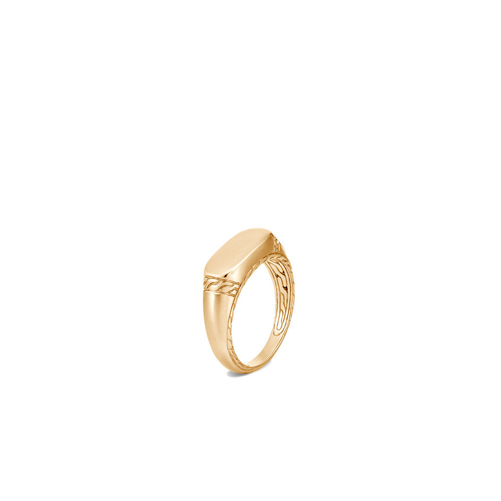 Classic Chain Signet Ring in 18K Gold By John Hardy