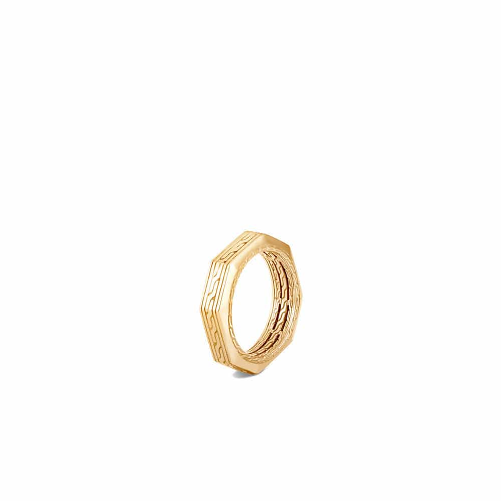 Classic Chain 6MM Band Ring in 18K Gold By John Hardy